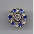 Mini Blue and White Lapel Brooch